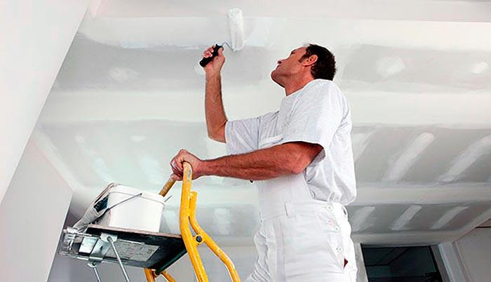 Вытягивание и побелка потолка