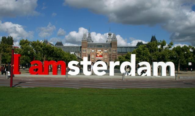 Скульптурные буквы I amsterdam