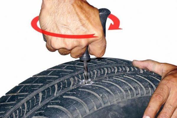 ремонт бескамерной шины 1