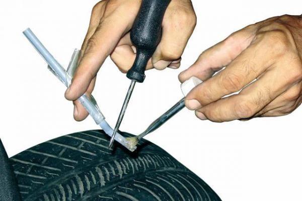 ремонт бескамерной шины 2