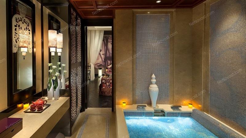 Дизайн ванной комнаты фото № 089