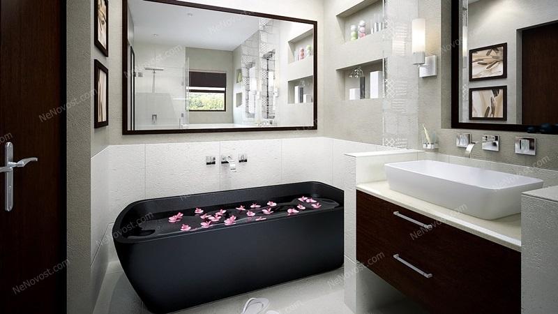 Дизайн ванной комнаты фото № 125