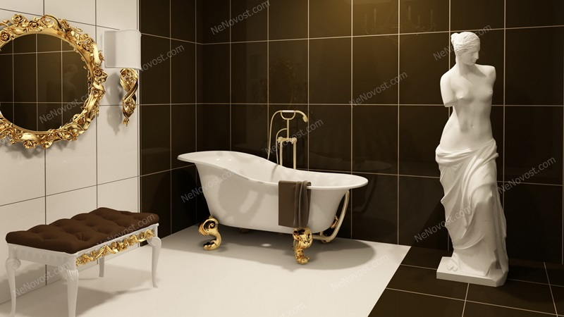 Дизайн ванной комнаты фото № 132
