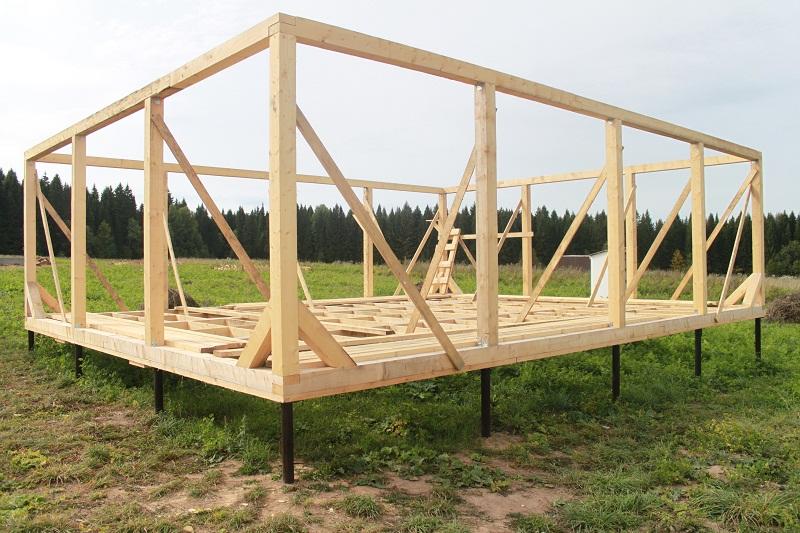 Как самому построить каркасный дом своими руками 6 на 6