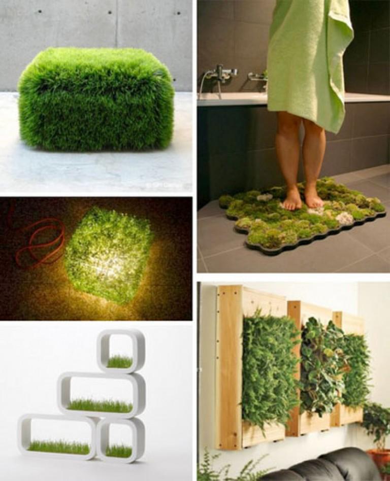 Дизайн интерьера с травой