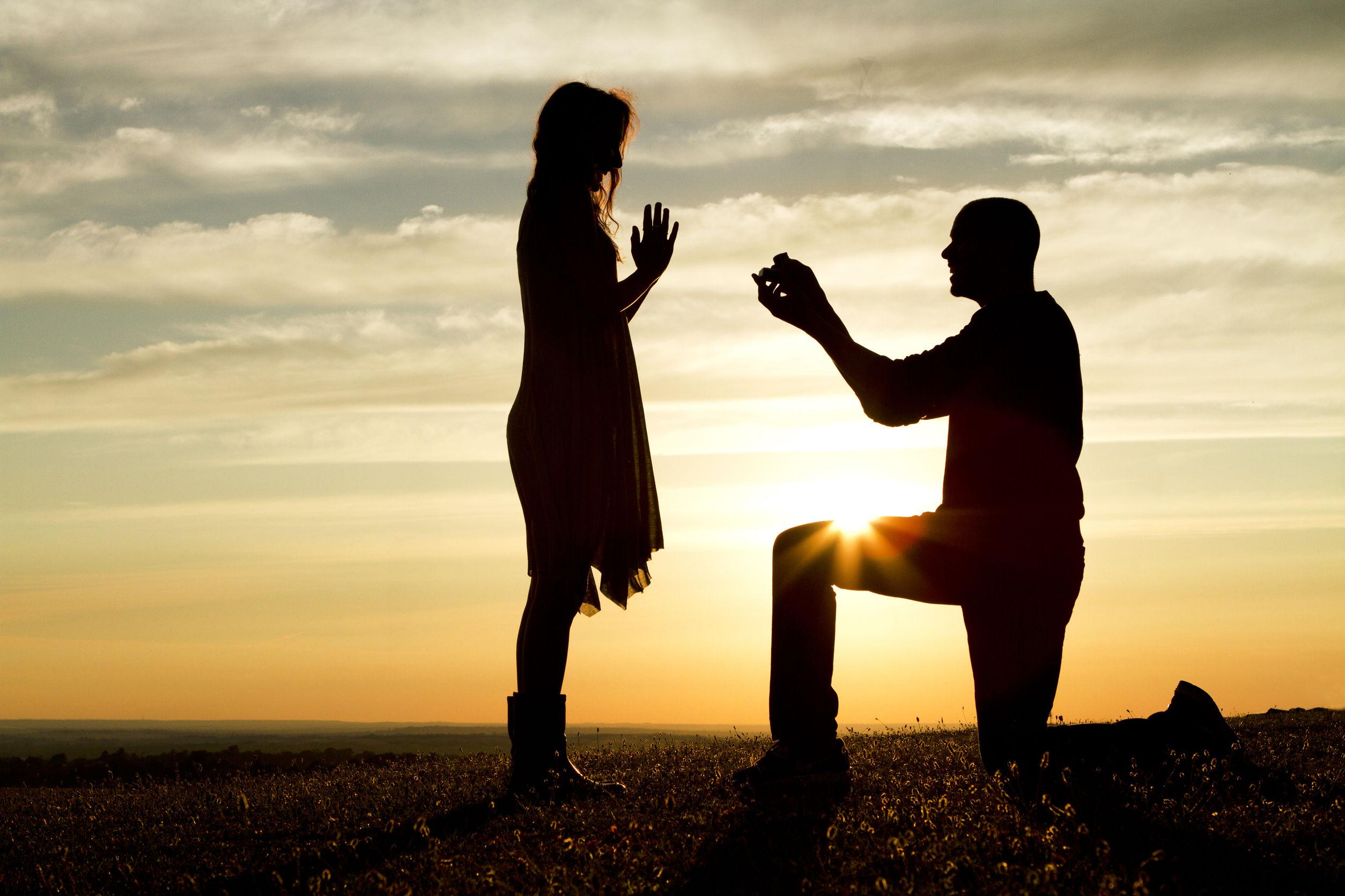 романтическое предложение руки и сердца девушке